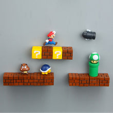 Load image into Gallery viewer, Super Mario DIY Fridge Refrigerator Magnet TV FC Childhood Game Japan Cartoon Gaming Cartoon 3D Ice Box Paster Icebox Sticker