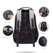 Load image into Gallery viewer, Multifunction Anti-theft Lock Casual Backpack with Invisible USB Charging Port