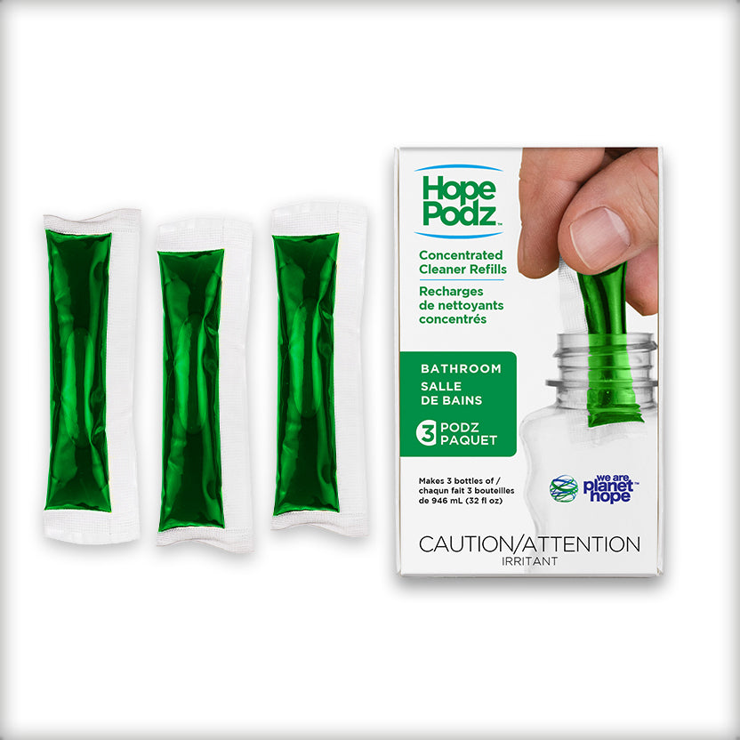HopePodz™ Bathroom Cleaner Refills | 3-Pack
