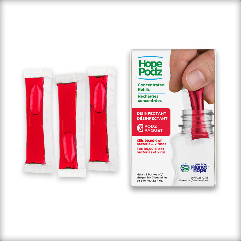 HopePodz™ Disinfectant Refills | 3-Pack