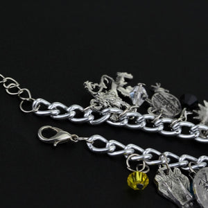 'Game of the Throne's Wolf Lion Crystal & Beaded With Silvertone Pendants
