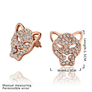 'Fabulous' Sparkling Rose Gold-Color Stud Earrings