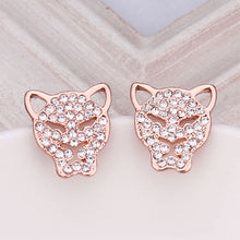 Load image into Gallery viewer, 'Fabulous' Sparkling Rose Gold-Color Stud Earrings