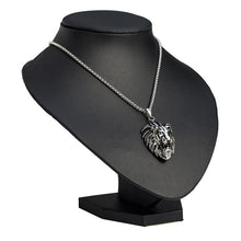 Load image into Gallery viewer, Richard The Lion Heart Unisex 'Titanium Steel' Lion Necklace