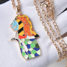 Load image into Gallery viewer, Wowza! -- Delightfully Colorful & Unique Elephant Necklace
