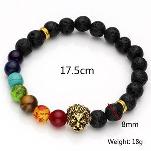 Wow! Such A Unique & Pretty Tibetan Elastic Lava Beads Lion Bracelet Theme