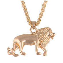 Load image into Gallery viewer, Shiny Bright & Happy Golden Lion Pendant & Chain