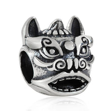 Load image into Gallery viewer, Very Unique 100% 925 Sterling Silver Lion Charm Bead To Fit DIY Jewelry