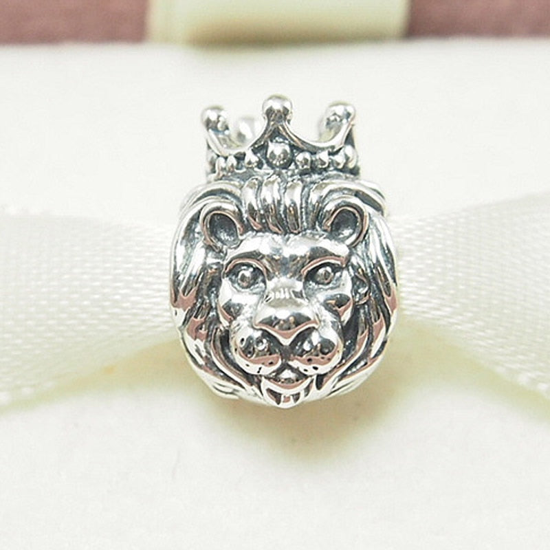 Shiney Bright '925 Sterling Silver' Lion King Charm Bead To Fit 'DIY' Bracelet