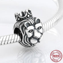 Load image into Gallery viewer, 925 Sterling Silver Noble Lion King Bead To Fit Original Pandora Charm Bracelets