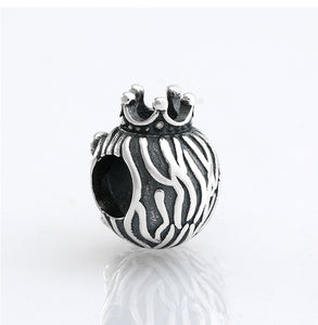 925 Sterling Silver Noble Lion King Bead To Fit Original Pandora Charm Bracelets