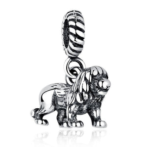 Beautifully Crafted 925 Sterling Silver Lion 'Big Hole' Charm Bead To Fit  Original BW Bracelets