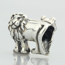 Load image into Gallery viewer, Genuine 925 Sterling Silver Lion Charm Bead to Fit European DIY Jewelry