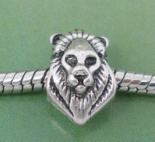 Load image into Gallery viewer, Beautiful European Lion Charm In Lovely Antique Silvertone Finish
