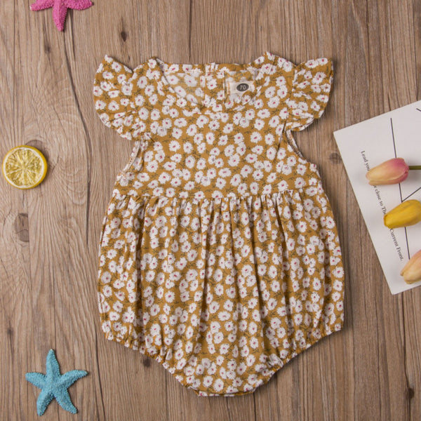 Yellow Playsuit Front
