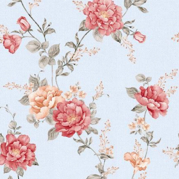 Fitted cot sheet - vintage floral