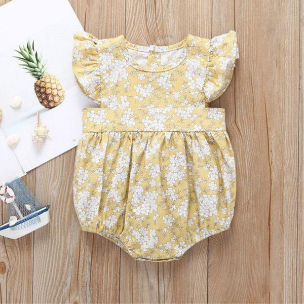 Sweet pea mustard playsuit