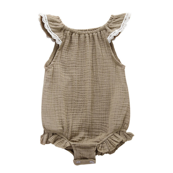 Beige cotton onesie