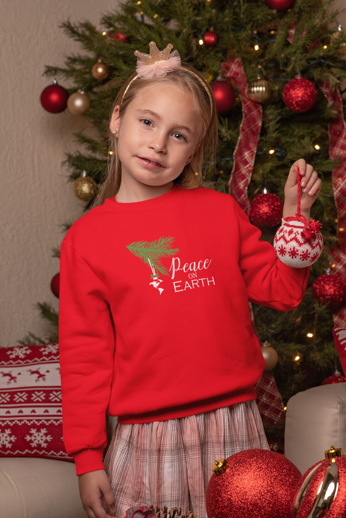 Children's Premium Christmas Jumpers, Peace on Earth