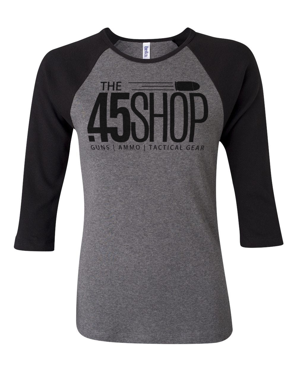 THE .45 SHOP WOMEN'S BASEBALL T-SHIRTS