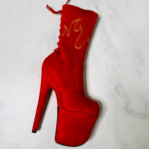 Exotique Shoe Protector -  HellGirl Red/Yellow