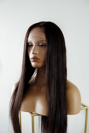 "KIM 24"" Human Hair Lace Front Wig"