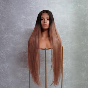 "ISABELLE Brown 30"" Lace Front Wig"