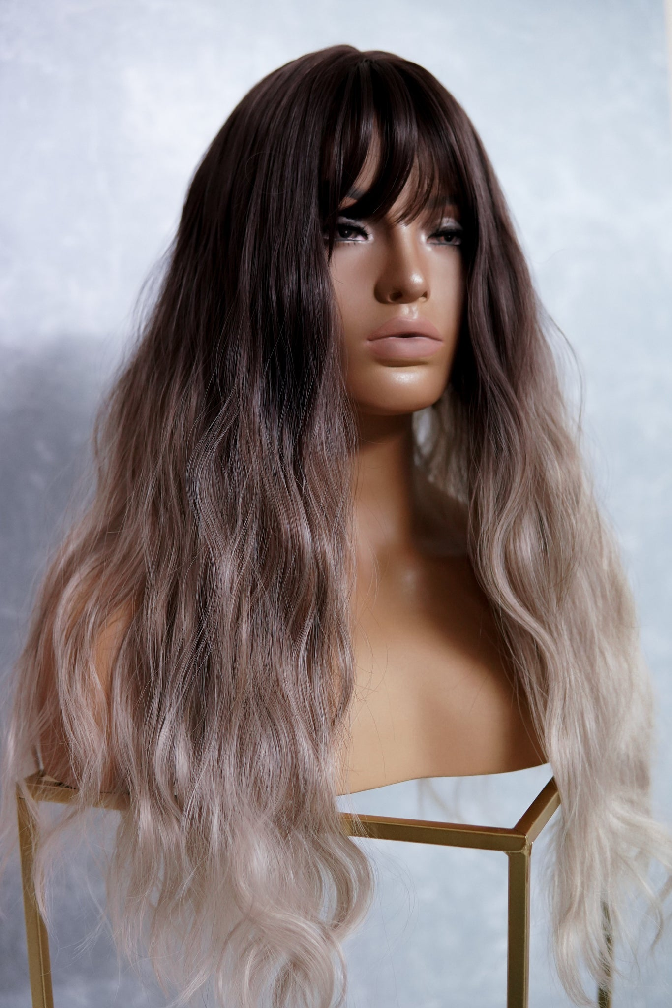 MILLY Brown Ombre Fringe Wig
