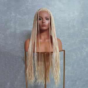 "PHOENIX Ice Blonde Braided 26"" Lace Front Wig"