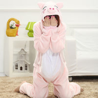 Women Pajama Flannel panda Unicorn Cartoon Cosplay Adult Onesie For Adults Animal Pajamas Adult Unicorn Pajamas Winter Onesie - 1sies