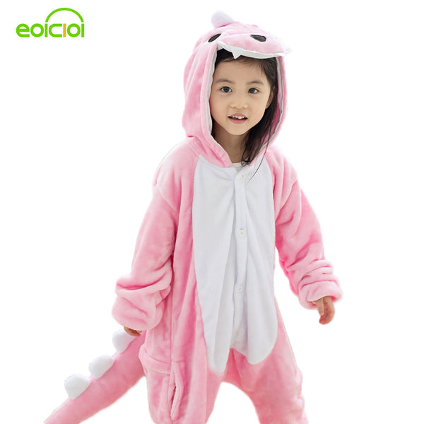 Animal Cartoon Pajama Onesie Baby Pajamas Funny animal Kids Girls Boys dinosaur Children Sullivan Sleepwear Onesies Nightwear - 1sies