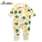 2017 Autumn Baby Clothing Long Sleeve Infant Rompers Boys Girls Pineapple Print Cotton Baby Onesie Zipper Kids Clothes - 1sies
