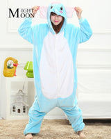 MOONIGHT Cute Elephant Animal Pajamas Unisex Pijama Flannel Pyjamas Women Sleep Tops Cosplay Costume Onesies Robe - 1sies