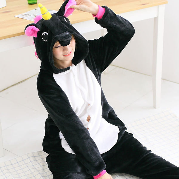 Black Pegasus Adult Unicorn Pajamas Unicorn Onesies Animal Pajamas Onesies Adult Animal Onesies Pajamas Christmas Pajamas - 1sies