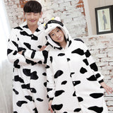 Cow Animal Pajamas Unisex Adult Pajamas Suits Flannel Pajamas Winter Garment Cute Cartoon Animal Onesies Pyjamas Jumpsuits - 1sies