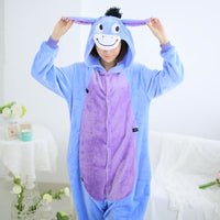Donkey Animal Pajamas Unisex Adult Pajamas Suits Flannel Pajamas Winter Garment Cute Cartoon Animal Onesies Pyjamas Jumpsuits - 1sies