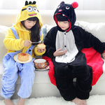 Minions & Bat Children Kids Boys Girls Pajamas Animal Pajamas Flannel Pajamas Winter Cartoon Animal Onesies Pyjamas - 1sies