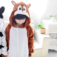 Cow Pajamas Children Kids Boys Girls Pajamas Animal Pajamas Flannel Pajamas Winter Cartoon Animal Onesies Pyjamas - 1sies