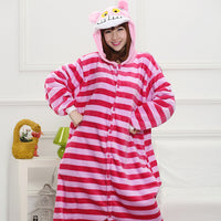 Cheshire Cat Animal Pajamas Unisex Adult Pajamas Flannel Pajamas Winter Garment Cute Cartoon Animal Onesies Pyjamas Jumpsuits - 1sies