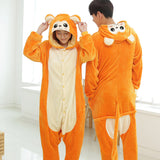 Golden Monkey Animal Pajamas Unisex Adult Pajamas Flannel Pajamas Winter Garment Cute Cartoon Animal Onesies Pyjamas Jumpsuits - 1sies