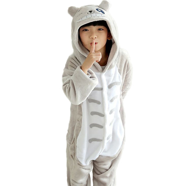 Winter Baby boys sleepwear Totoro christmas pajamas for girls Flannel Animal Pajamas Kid warm Pajama sets Onesies Children - 1sies
