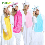 28 styles Winter flannel Adults Pajamas All in One Pyjama Onesie Animal Cosplay Women Cute Cartoon Animal Unicorn Pajama - 1sies