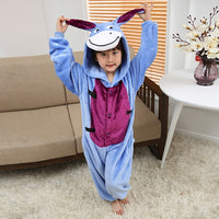 Children Anime Cosplay Onesie Kids Pajamas for Boys Girl unicorn Child Unisex Flannel pijama Stitch Pikachu Panda Sleepwear - 1sies
