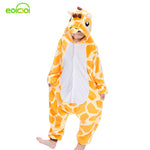 EOICIOI New Flannel Children Boys Girls Pajamas Winter Warm Animal Giraffe Pyjamas Kids Onesie Sleepwear Infantil cosplay pijama - 1sies