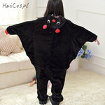 Bat Pajama Kids Animal Cosplay Costume Children Onesie Flannel Warm Kigurumi  Homewear Winter Lovely Sleepwear For Boys Girls - 1sies