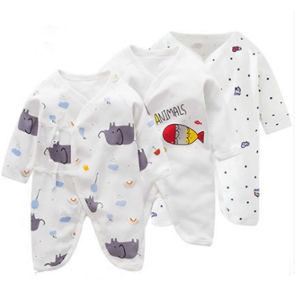 Newborn Clothes 0-6 Months Baby Rompers Cotton Spring Summer Romper Boy Girl Butterfly Harem Monk Clothes Baby Infant Onesies - 1sies