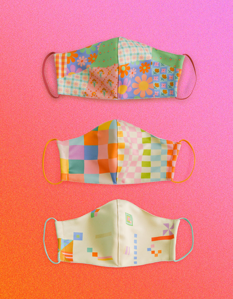 Bundle Pack : Earloop Medium Size Masks - Mix Pattern