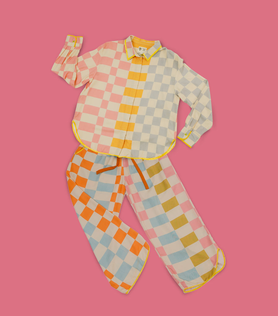 Checky Chess - Long Sleeve + Long Pants Set