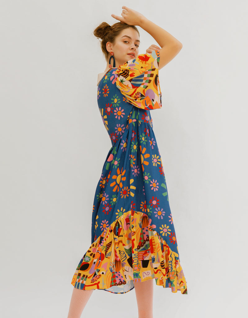 Picasso Bouquet of Peace Dress