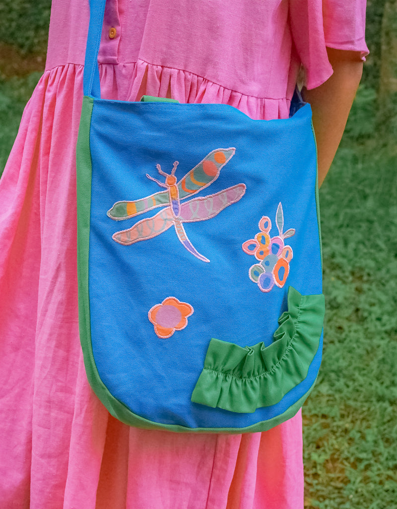 Blue Ruffles Sling Bag – Dragonfly